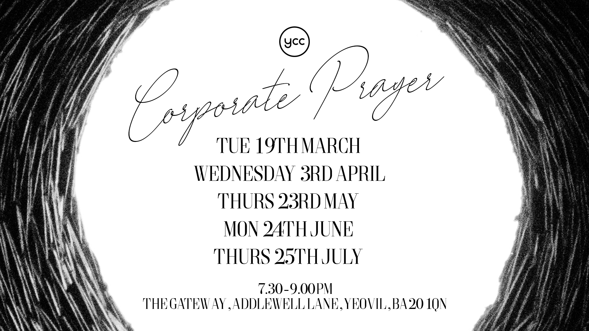 Corporate prayer dates flyer